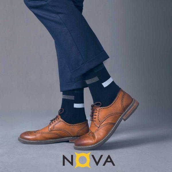 جوراب مردانه نووا طرح پله ای
