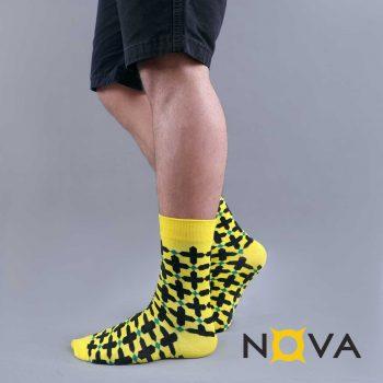 جوراب مردانه نووا طرح پنجره