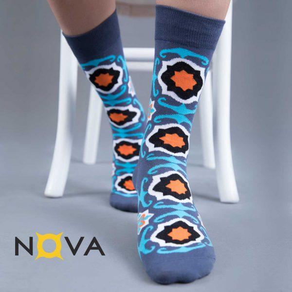 جوراب مردانه نووا طرح فرش