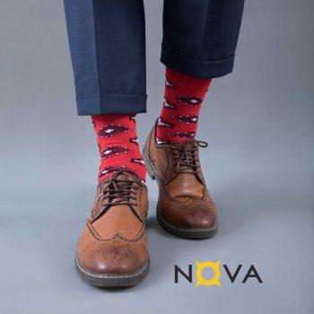 جوراب مردانه نووا طرح پشتی