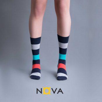 جوراب مردانه طرح رینگی پهن