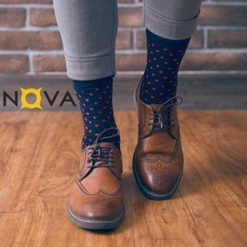 جوراب مردانه نووا طرح خال خال