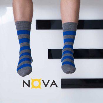 جوراب مردانه نووا طرح تک رینگ