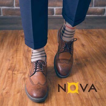 جوراب مردانه نووا طرح بری