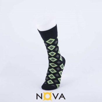 جوراب مردانه نووا طرح لوزی