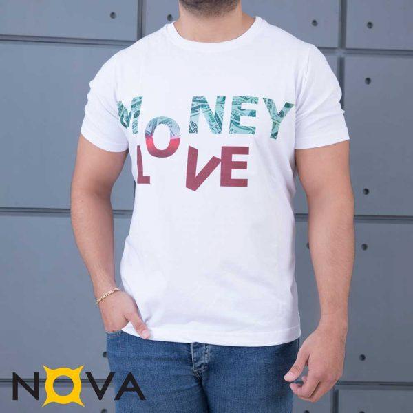 تیشرت مردانه نووا طرح MONEY LOVE