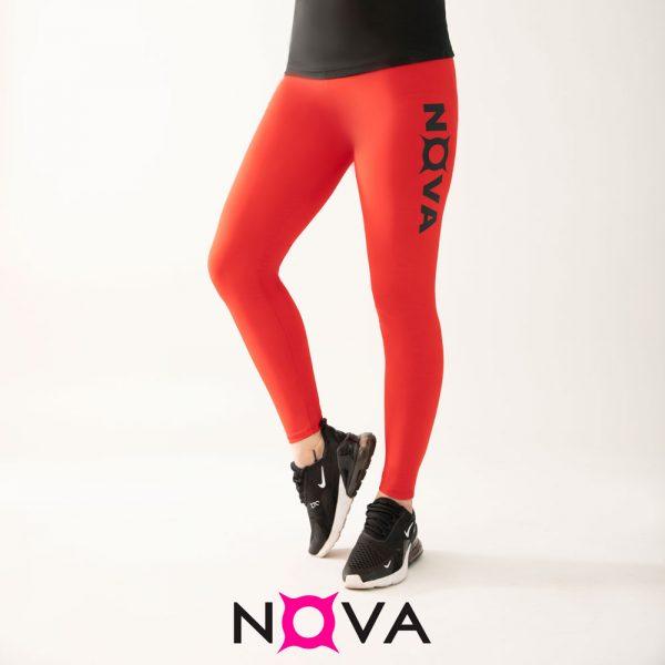 لگینگ ورزشی زنانه رنگ قرمز