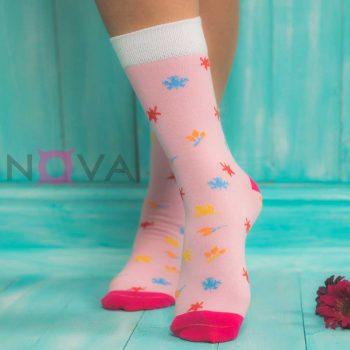 جوراب زنانه ساقدار طرح پاییز