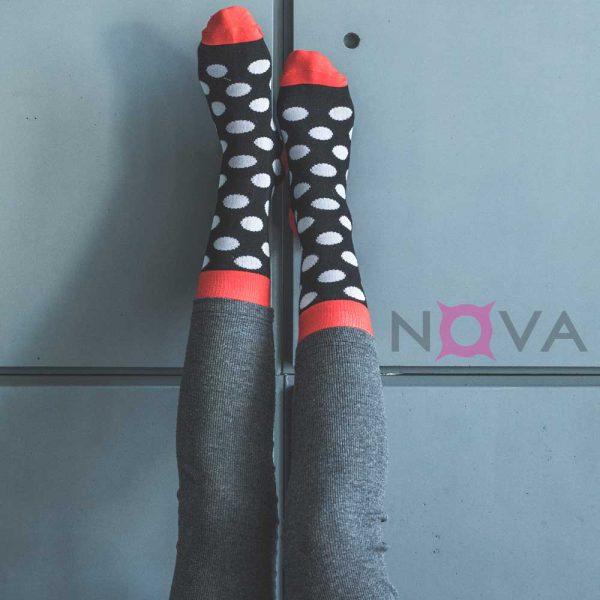 جوراب زنانه ساقدار طرح توپی